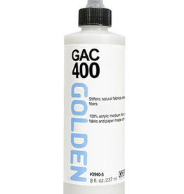 GAC 400, Golden Acrylic Polymer for Stiffening Fabrics, 8oz
