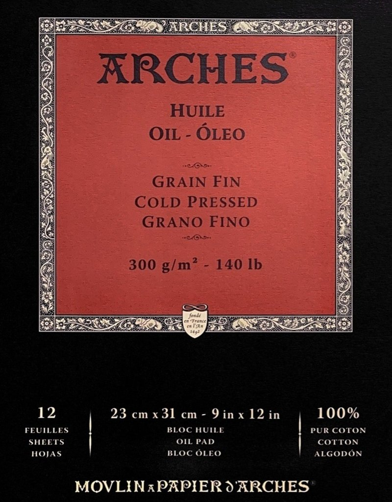 """Arches Oil Paper, Pad, 12"""" x 16"""", 140#, 300gsm, 12 sheets"""