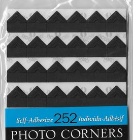 Self-Adhesive Photo Corners, Black, Pack of 252