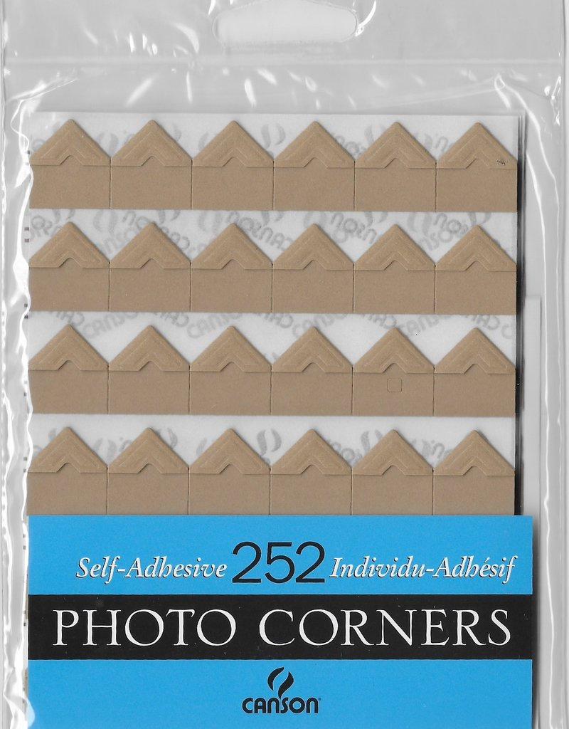 Self-Adhesive Photo Corners, Kraft, Pack of 252