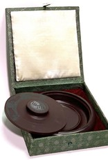 """Stallion Ink Stone, 6"""" Diameter Ink Well with Cover"""