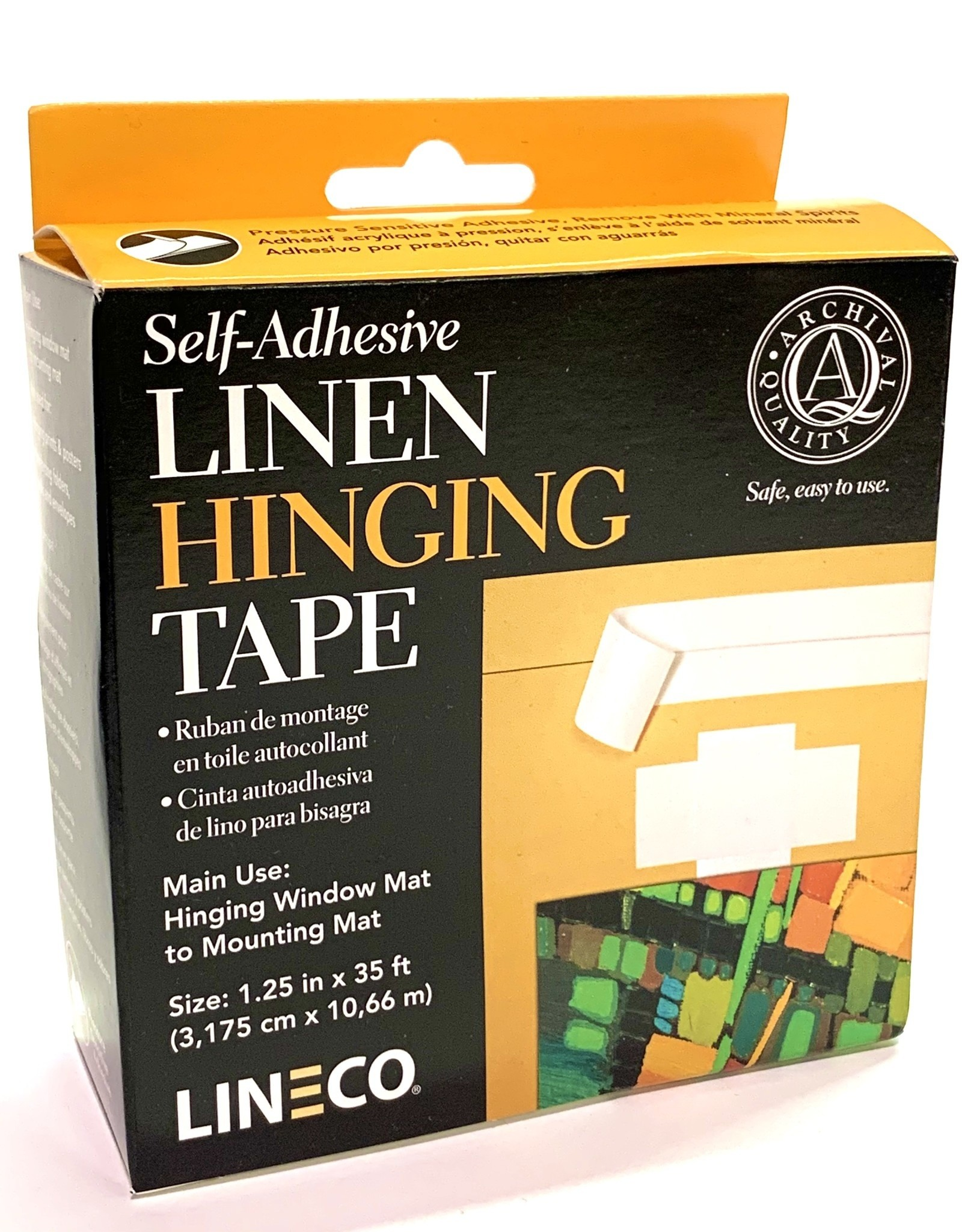 "Linen Hinging Cloth Tape, Self Adhesive, 1.25"" x 35'"