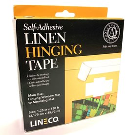 "Linen Hinging Cloth Tape, Self Adhesive, 1.25"" x 150'"