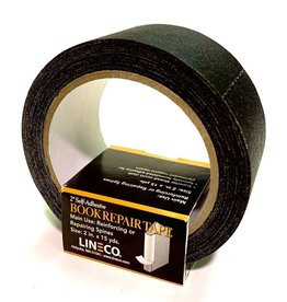 "Book Repair Tape, Black, 2"" x 15 yds Self-Adhesive"