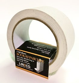 "Book Repair Tape, White, 2"" x 15 yds Self-Adhesive"