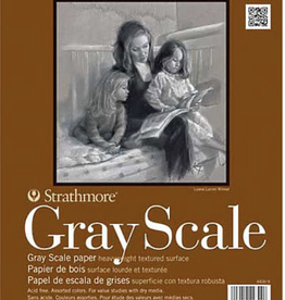"Strathmore Gray Scale Paper Pad, 18"" x 24"", 15 Sheets"