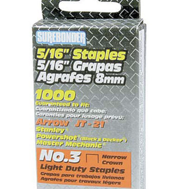 "Light Duty Staples 5/16"" 1000 per box"