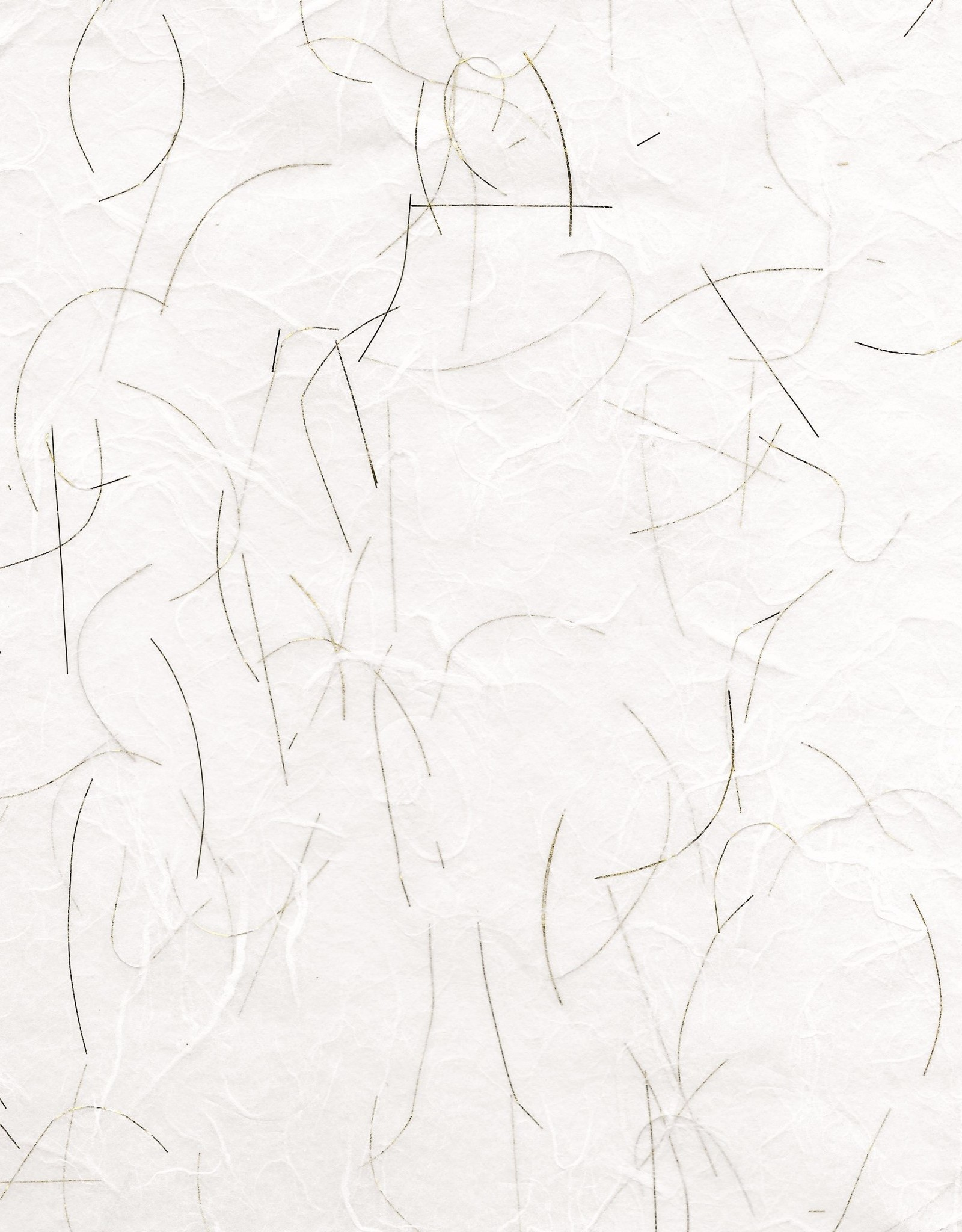 "Thai Unryu, White with Gold Threads, 25"" x 37"" 25gsm"