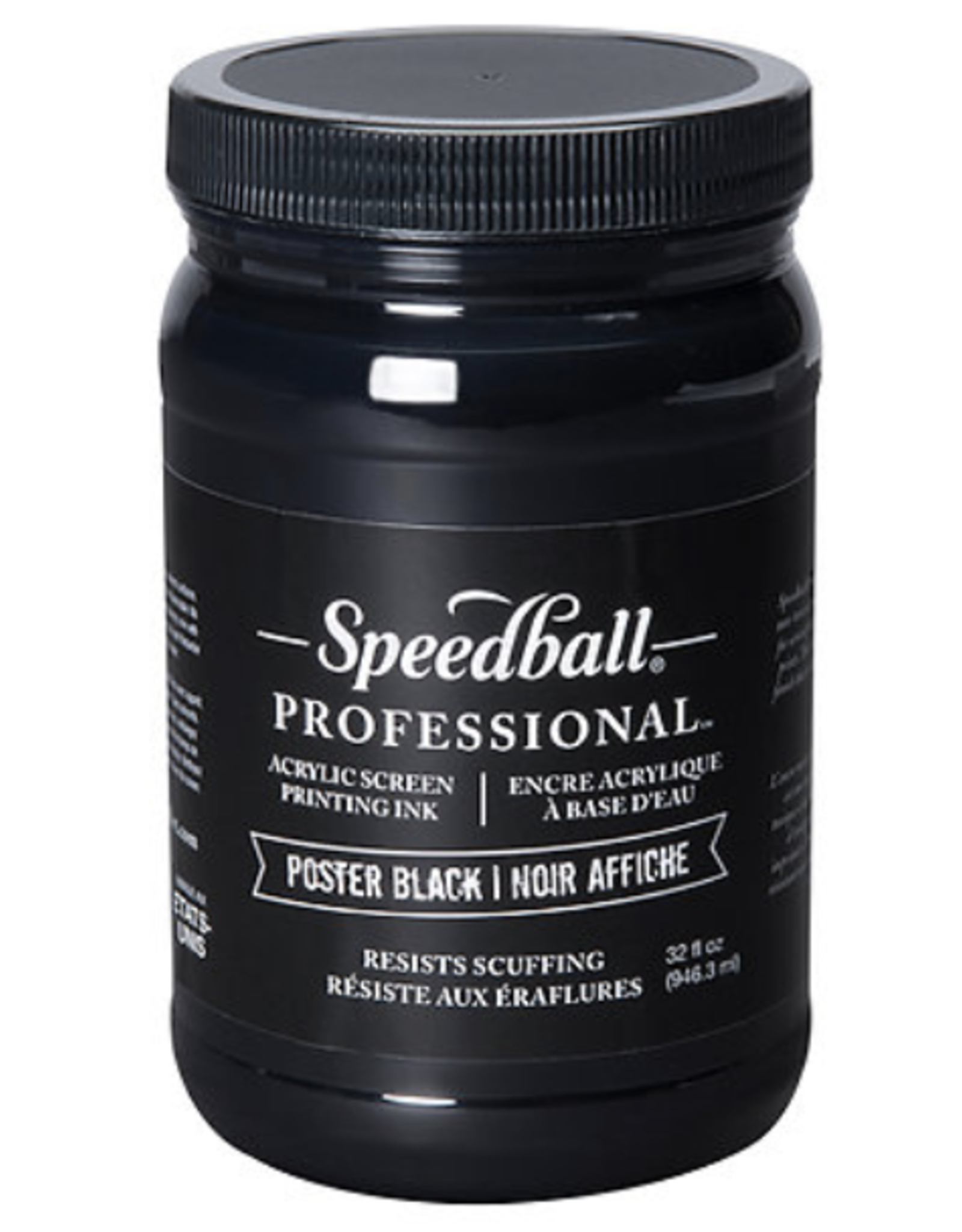 Professional Silk Screen Ink Acrylic Poster Black, 32oz