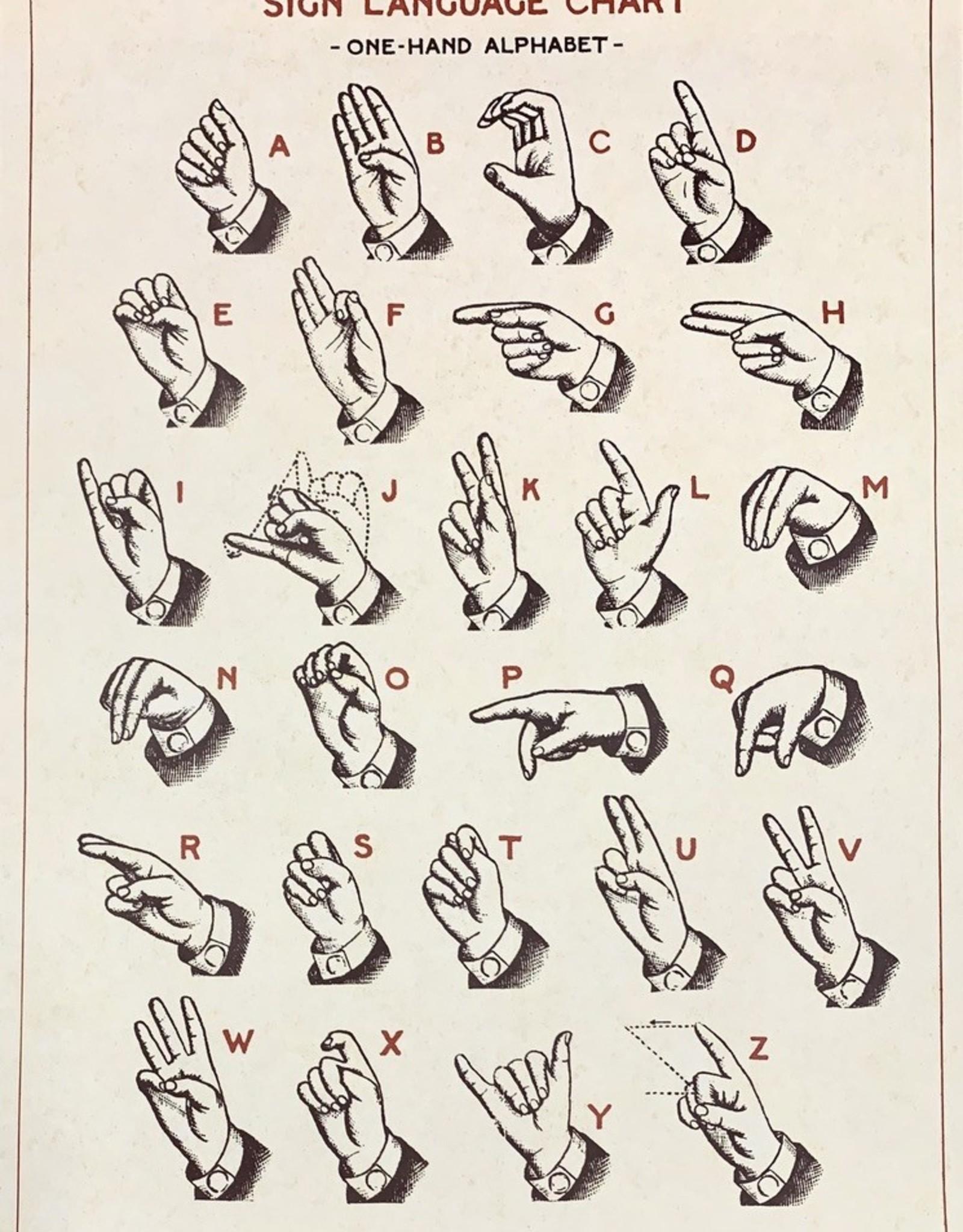 "Cavallini Sign Language, Poster Print, 20"" x 28"""