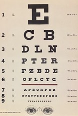 "Cavallini Eye Chart, Cavallini Poster Print, 20"" x 28"""