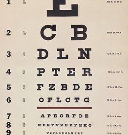 "Cavallini Eye Chart, Poster Print, 20"" x 28"""