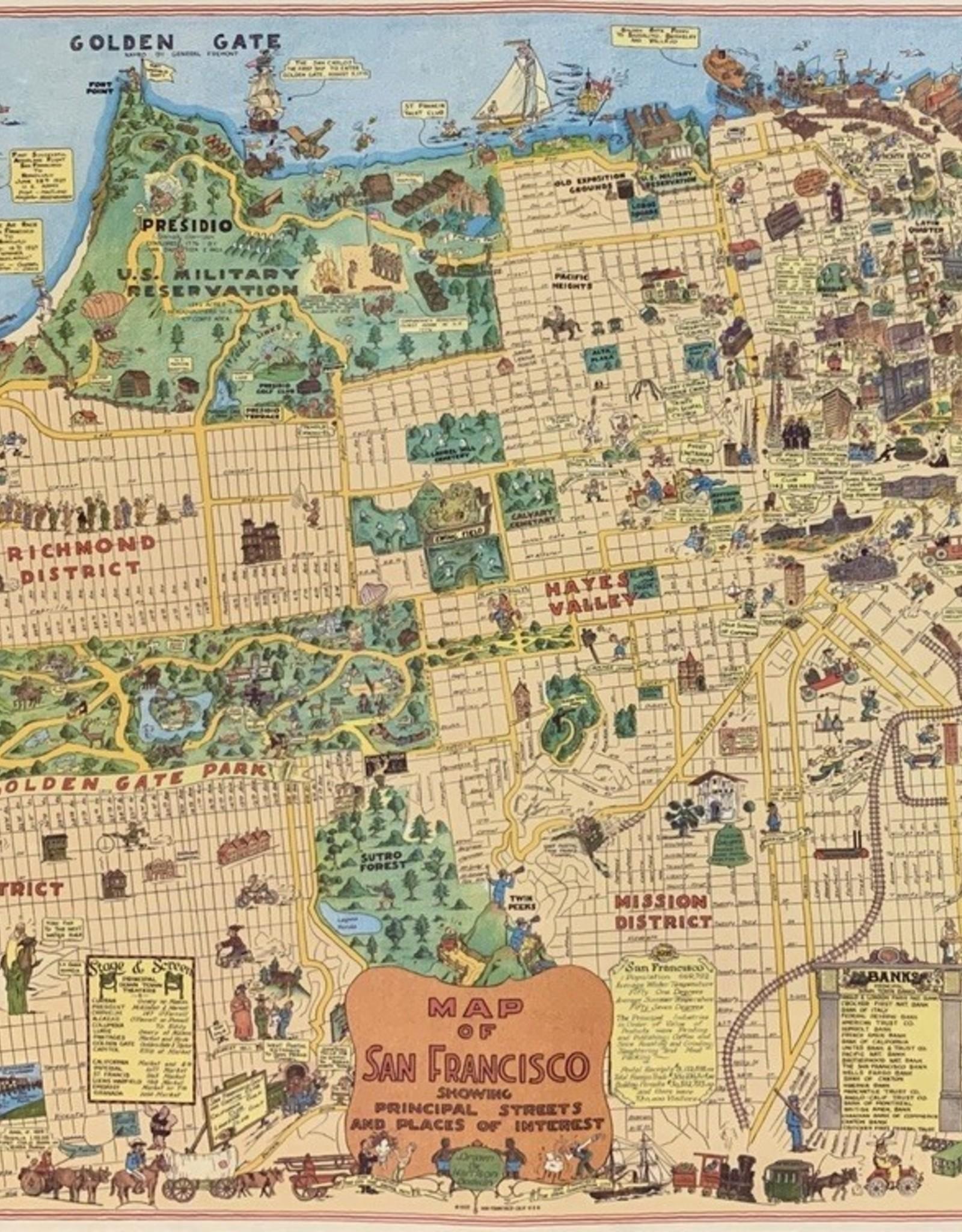 "Cavallini San Francisco Map, Poster Print, 20"" x 28"""