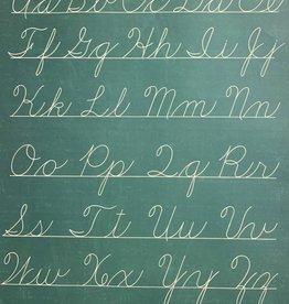 "Cavallini Handwriting Chart, Cavallini Poster Print, 20"" x 28"""