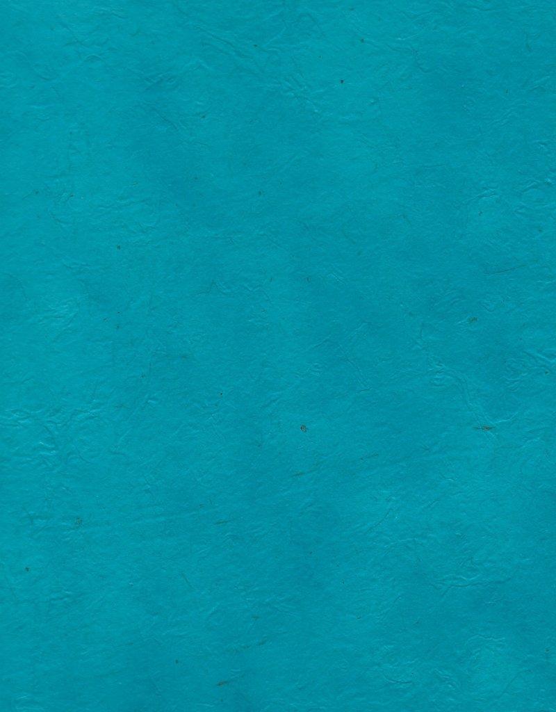 "Lokta Heavy Turquoise, 20"" x 30"", 100gsm"