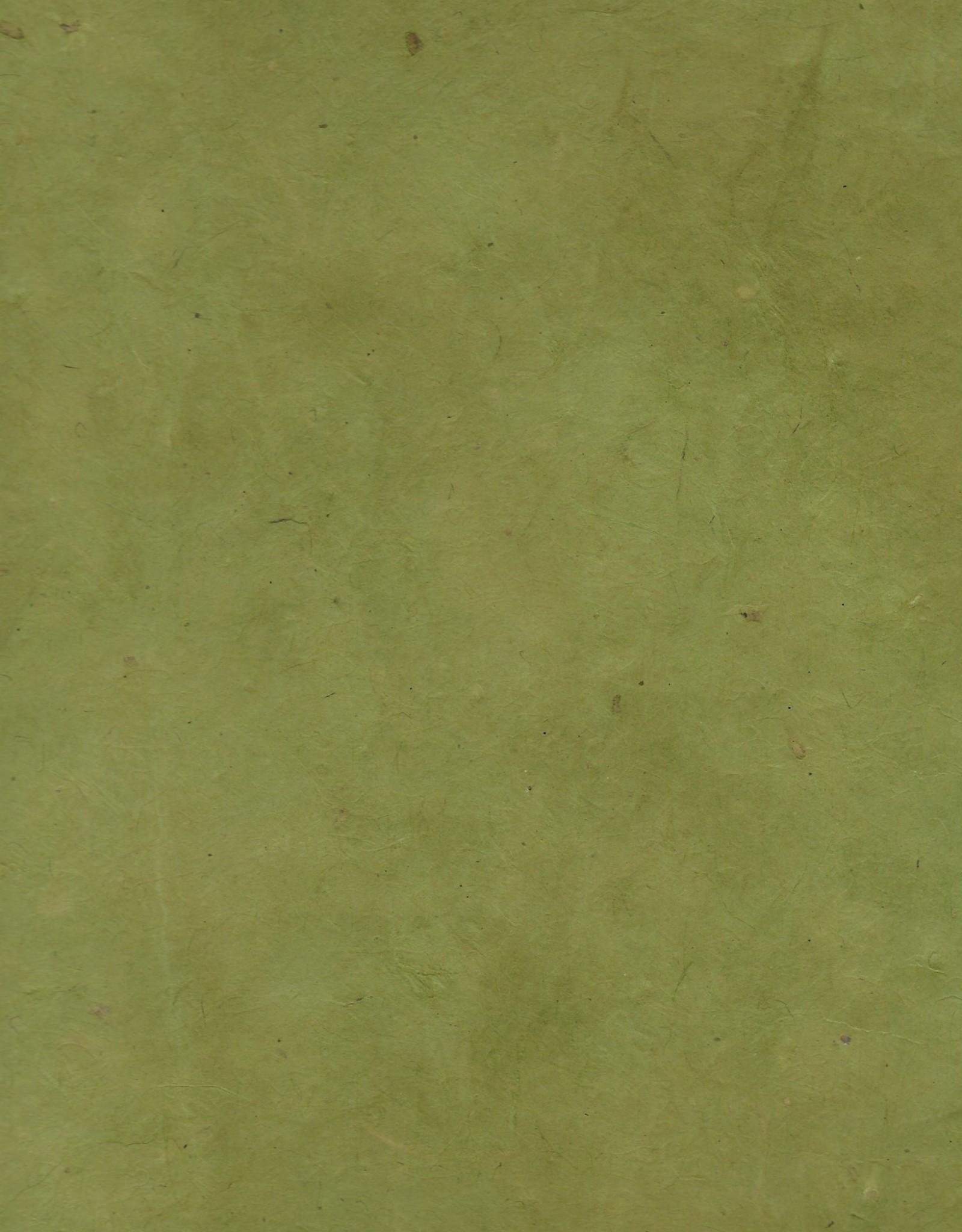 "Lokta Heavy Olive Green, 20"" x 30"", 100gsm"