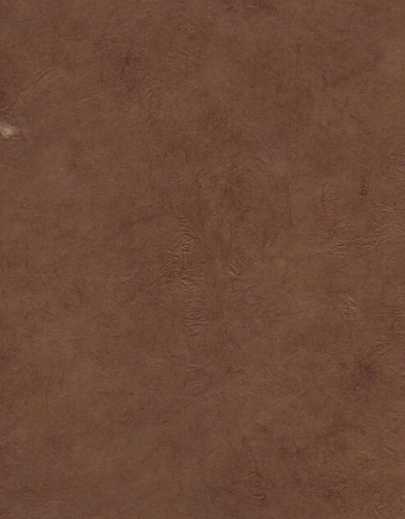 "Lokta Heavy Red Brown, 20"" x 30"", 100gsm"