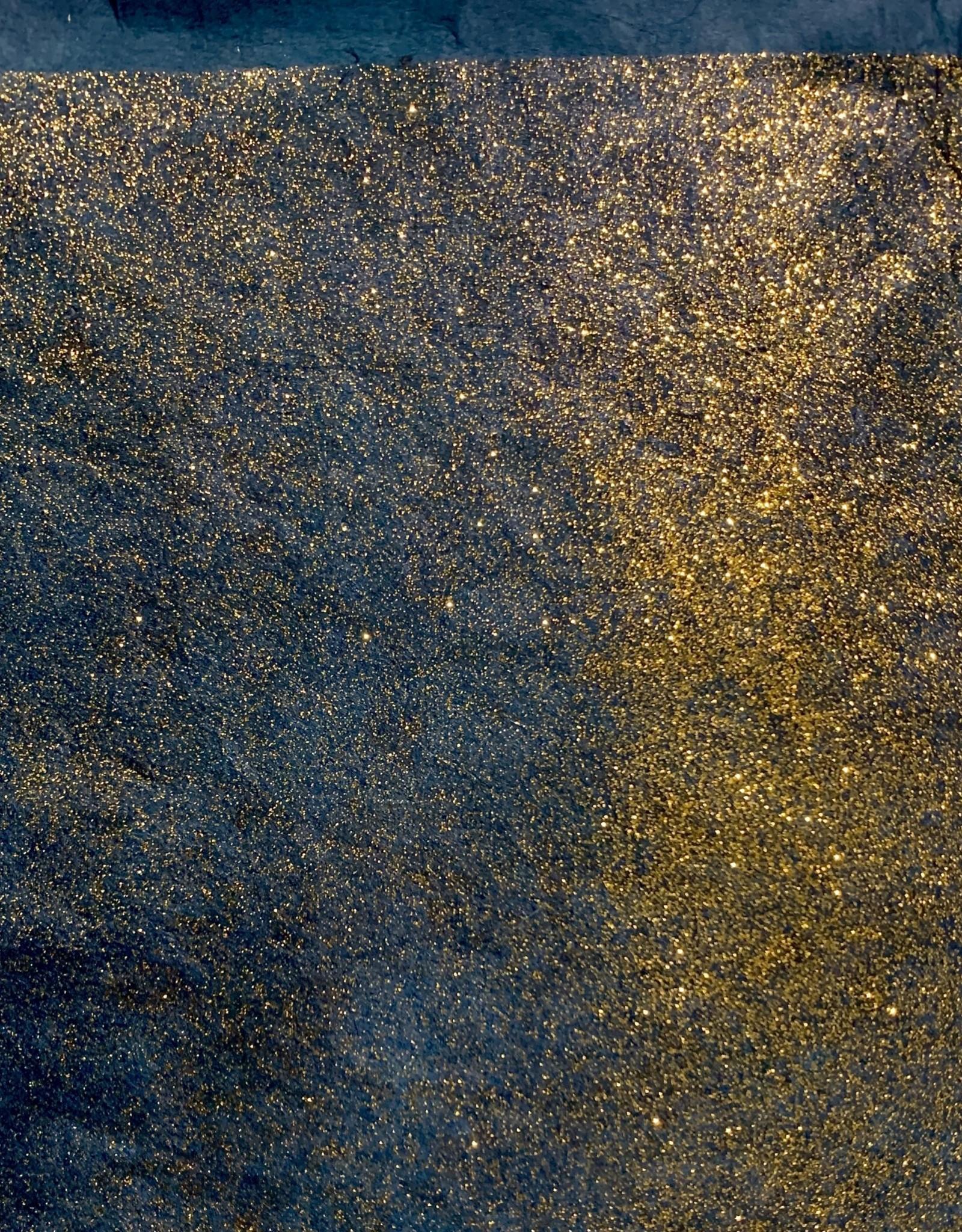 """Lokta Gold Glitter on Dark Teal, 20"""" x 30"""", 55gsm"""