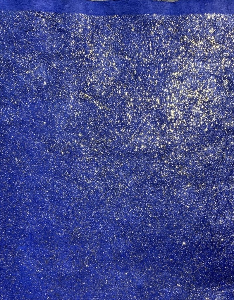 """Lokta Glitter on Sapphire Blue, 20"""" x 30"""", 55gsm"""