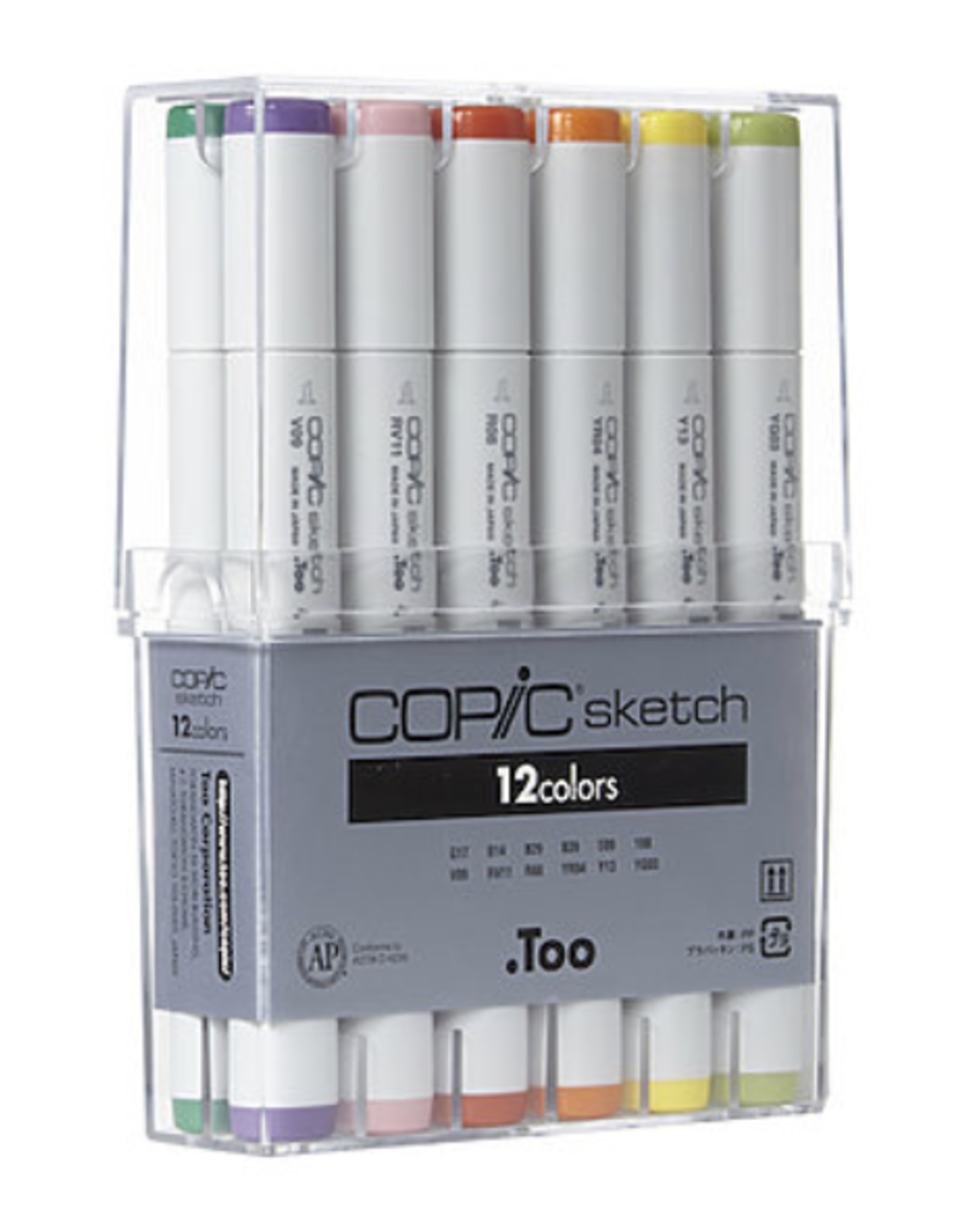 Copic Sketch Marker, Basic Set of 12 Colors