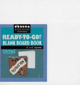 "Blank Book Board 6"" X 6""  White"