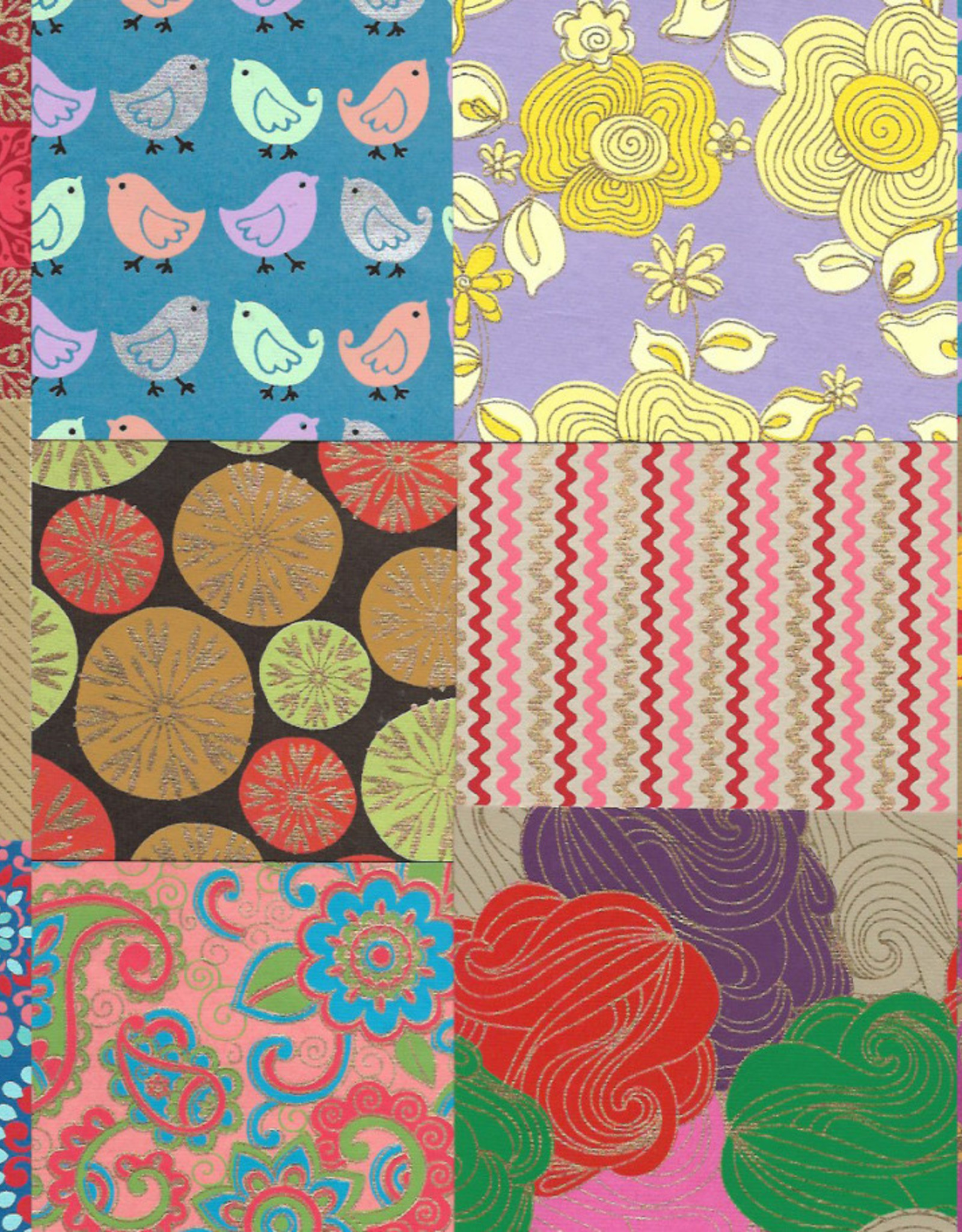 """Indian Decorative Paper Pack, 11"""" x 11"""" 20 Sheets, Each sheet is a different and unique Indian Design Paper (paper will vary per pack)"""