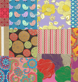 "Indian Decorative Paper Pack, 11"" x 11"" 20 Sheets"