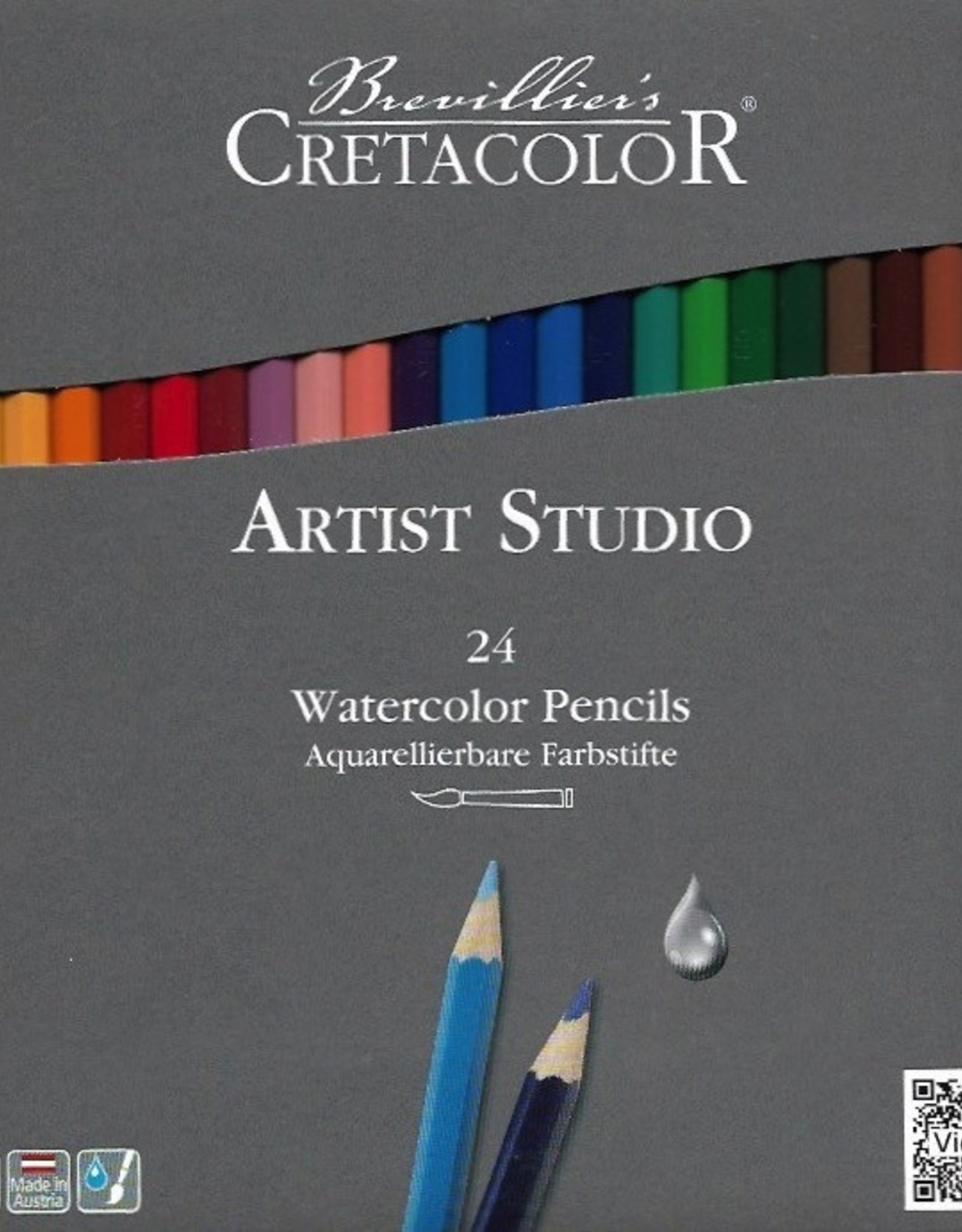 Cretacolor, Artist Studio Watercolor Pencils, 24 Pencil Set