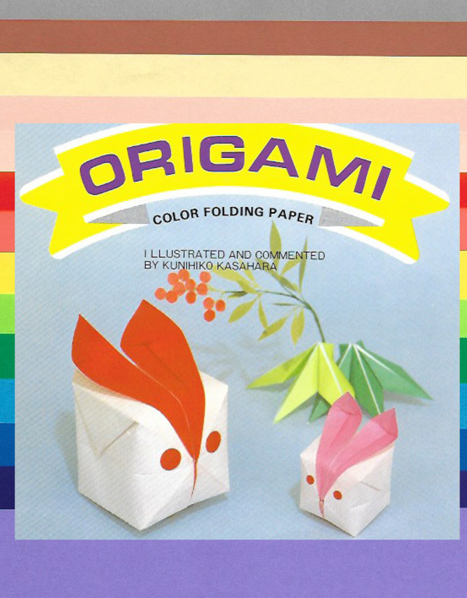 "Origami, 7"" x 7"", 3 Different Sizes, Multi Color Folding Paper, 60 Total Sheets"