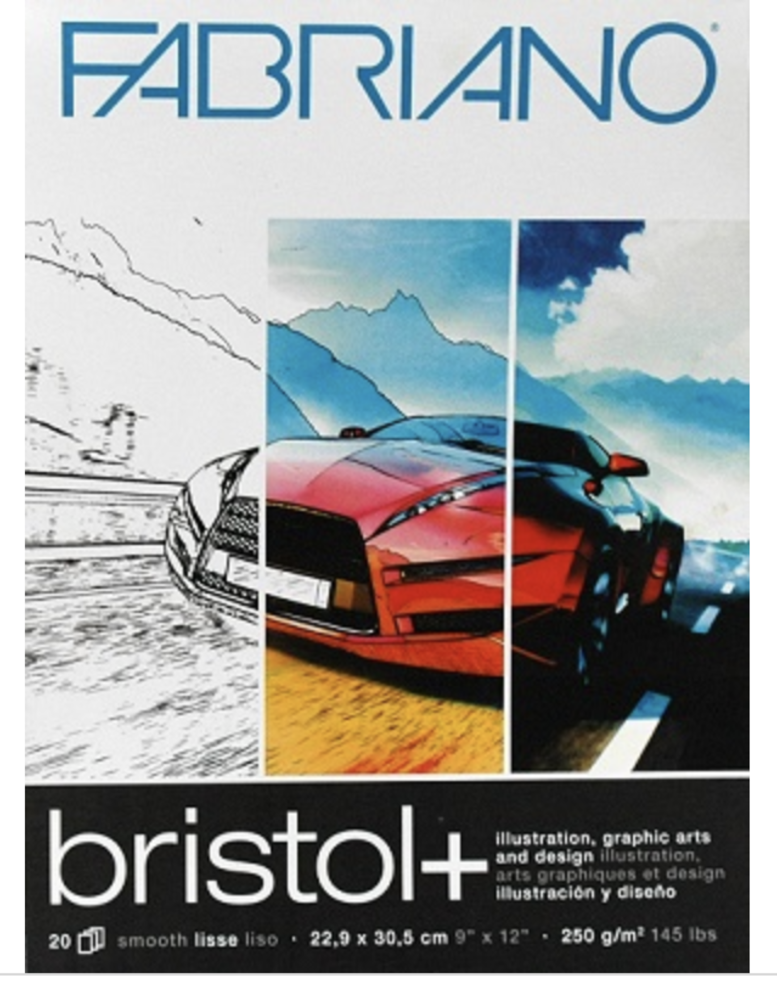 "Bristol + Pad, 11"" x 14"" 20 sheets, 250gsm"
