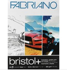 "Bristol + Pad, 9"" x 12"" 20 sheets, 250gsm"