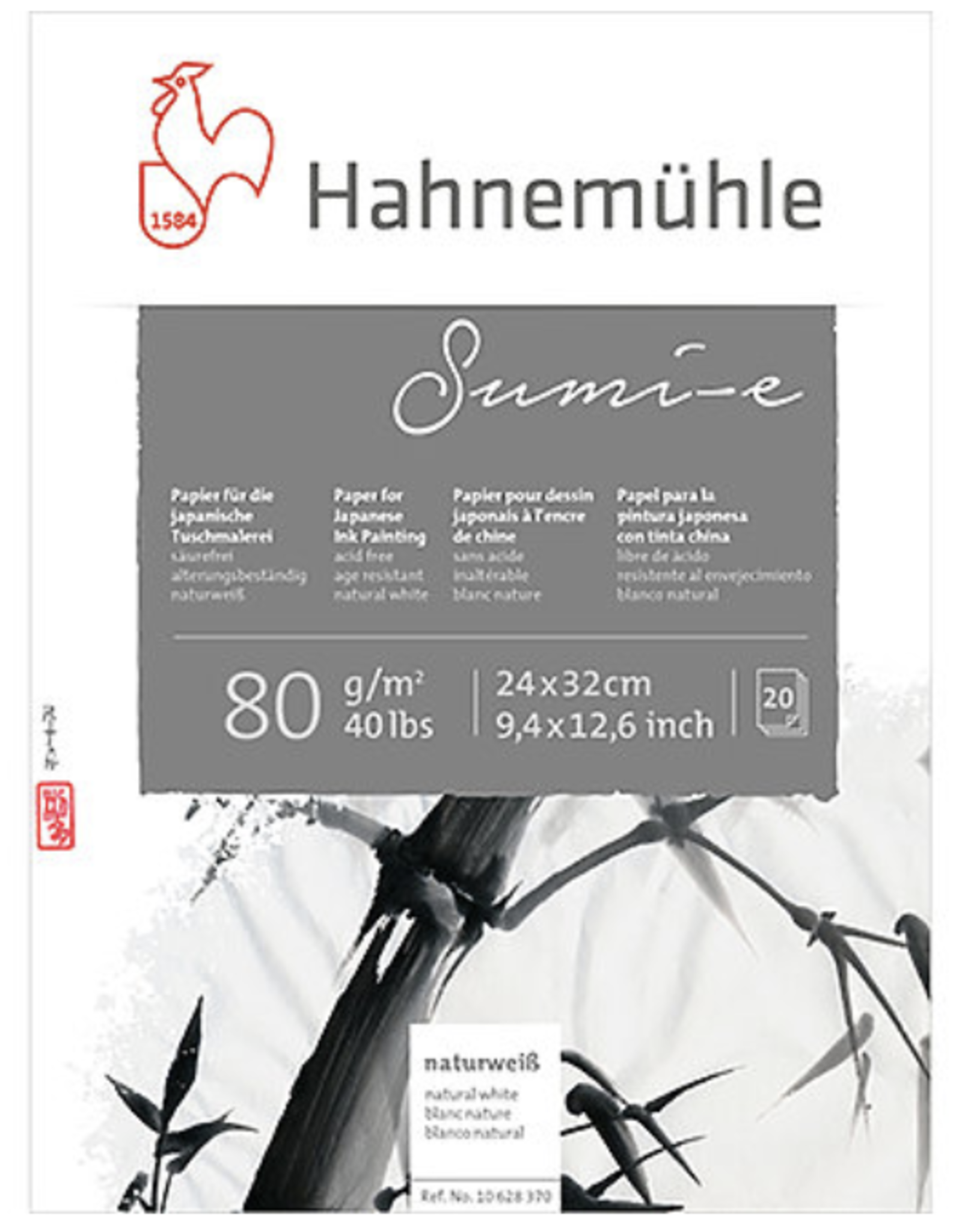 "Hahnemuhle Sumi-E, 9"" x 12"", 80gm, 20 Sheets"