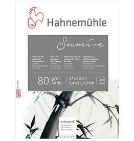 "Hahnemuhle Sumi-E, 9"" x 12"", 80gm, 20 Sheets"