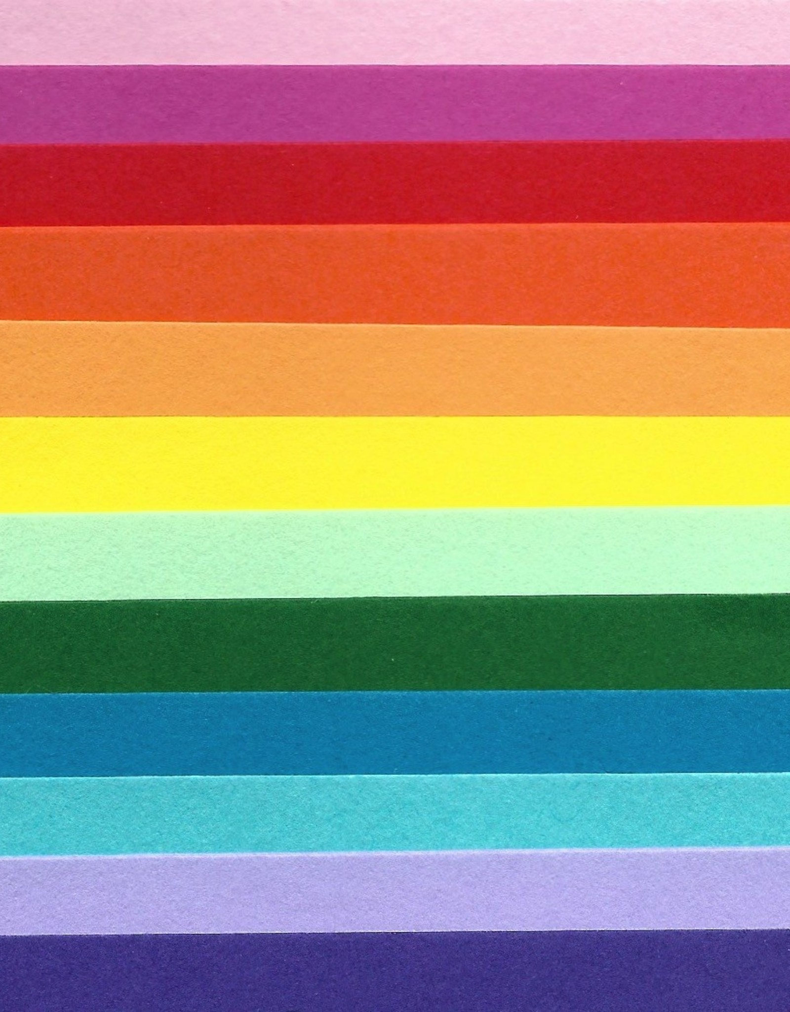 "Colorplan Rainbow Selection, 2 Sheets of 12 Different Colors 19"" x 25"""