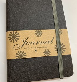 "Journal with Black Cover, 4"" x 6"""