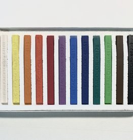 Cretacolor, Hard Pastel Carre Cardboard Set of 12, Starter Colors