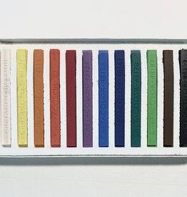 Cretacolor, Hard Pastel Carre Cardboard Set of 12, Starter Colors