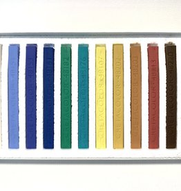 Cretacolor, Hard Pastel Carre Cardboard Set of 12, Nature Colors