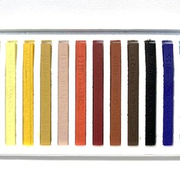 Cretacolor, Hard Pastel Carre Cardboard Set of 12, Portrait Colors