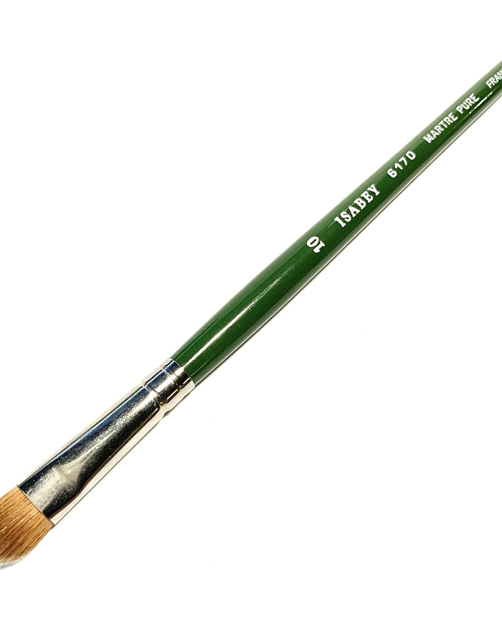 Isabey Kolinsky Sable Fat Brush, Filbert 6170 #10