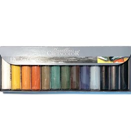 Cretacolor Chunky Charcoal, Set of 12 Assorted Colors