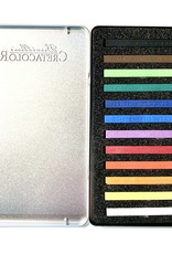 Cretacolor, Hard Pastel Carre Sticks, Set of 12 Colors, Metal Tin