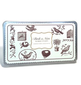 Rubber Stamp Set, Birds & Nests
