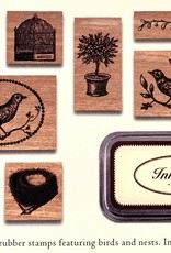 Rubber Stamp Set, Birds & Nests