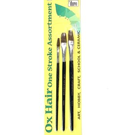 Duro Art, Ox Hair Brushes: Flat Sizes 1/4, 3/8, 1/2