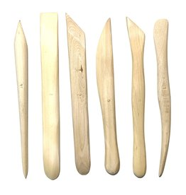 Boxwood Modeling Tools, Pack of 6 Wooden Tools for Clay