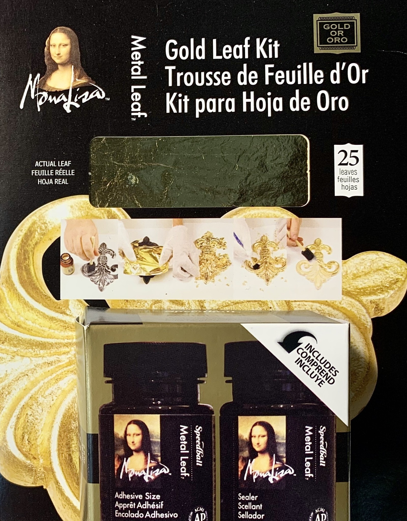"Mona Lisa Gold Leaf Kit 5.5"" X 5.5"""