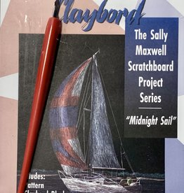 Clayboard Scratchboard Kit with Scratch Knife and Black Clayboard