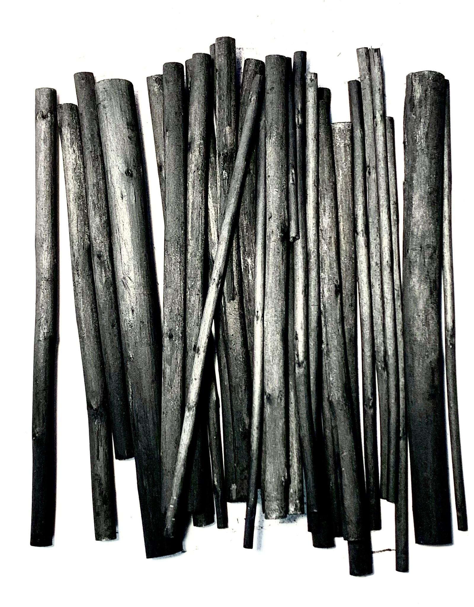 Willow Charcoal, 4mm-12mm Asst. Willow Charcoal Sticks- 30pcs Assorted