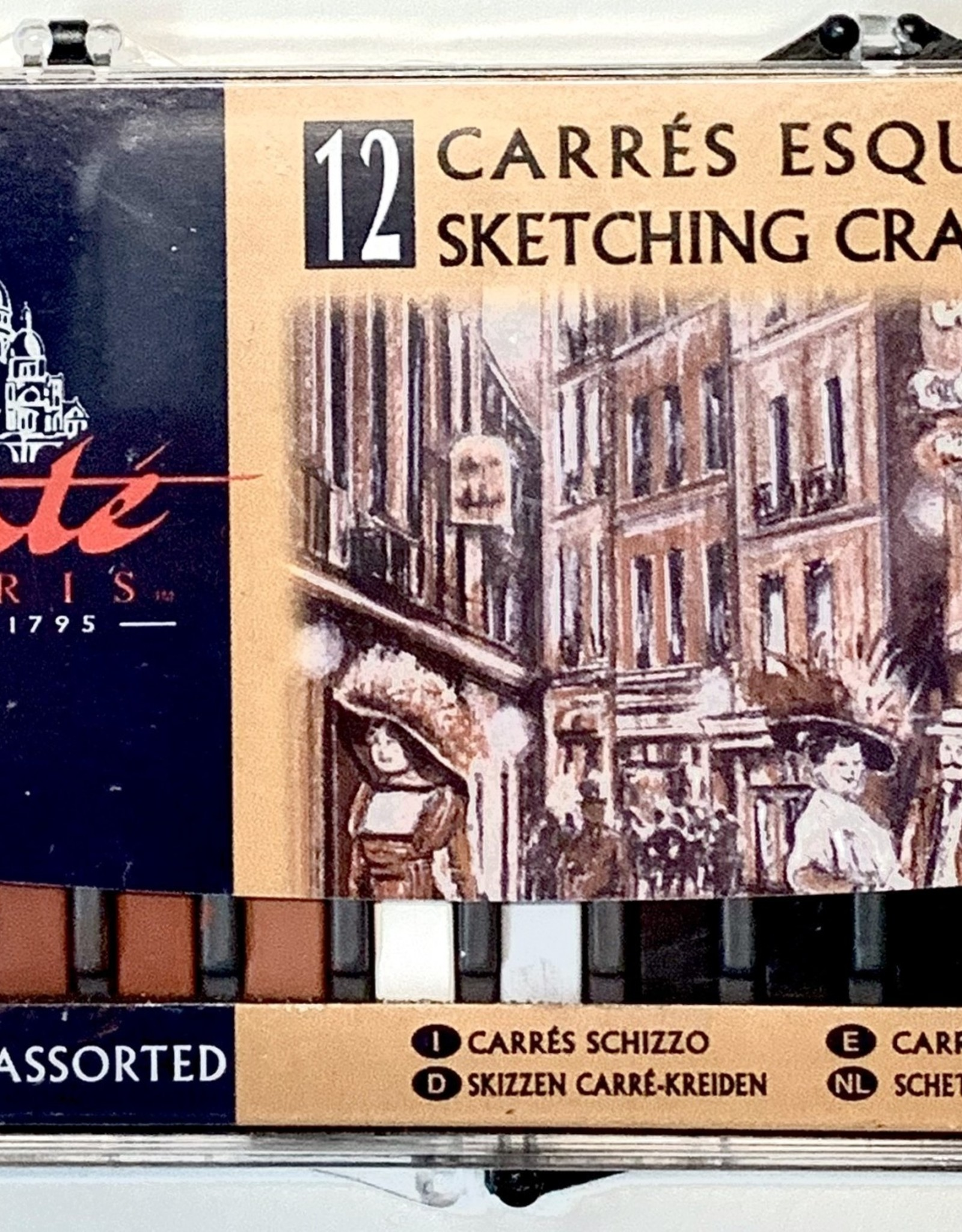Conte Sketching Crayons, Assorted 12 Pack
